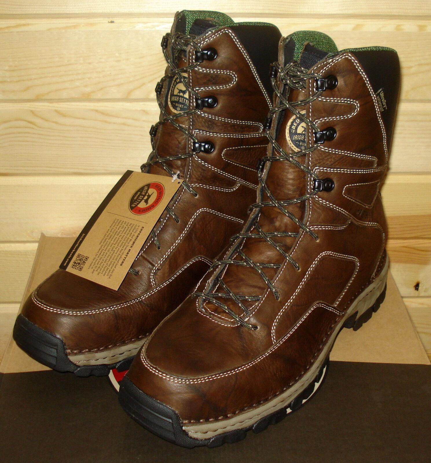 14 D rot WING IRISH SETTER HUNT HAVOC 810 mens 10  Waterproof Hunting Work Stiefel
