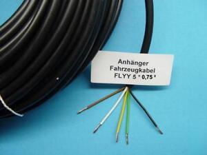 FLYY Kabel 5x0,75² mm Schwarz für Anhänger Trailer Landmaschinen 5 ...