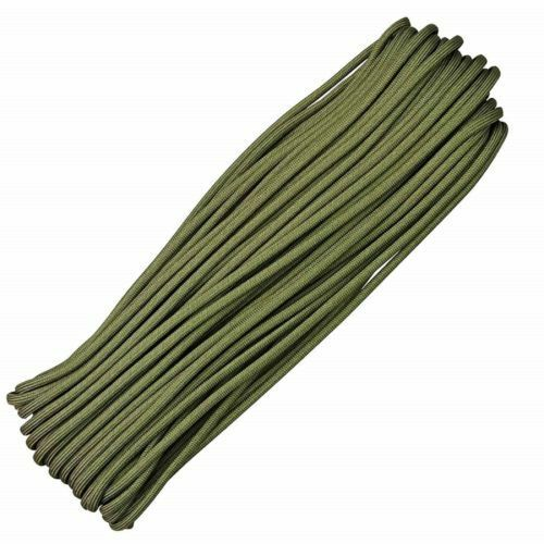 33FT 10metre 4mm 550 Paracord Strands Parachute Cord Rope Lanyard Army green UK
