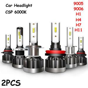9-36V-6000K-CSP-LED-Scheinwerfer-Kit-Auto-Beam-Birne-Weiss-Nebelscheinwerfer