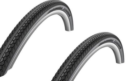 """schwarz-grau Reflex 28x2,0/"""" 2 Stück Schwalbe Century Fahrrad Reifen //// 50-622"""