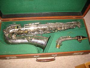 """Prix Pas Cher Ancien Sax Alto Alt Saxophone """"v. Kohlerts Fils Modèle 1928"""" Belle-afficher Le Titre D'origine"""