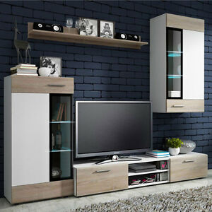 wohnwand anbauwand mia wohnzimmer set m bel gro e. Black Bedroom Furniture Sets. Home Design Ideas