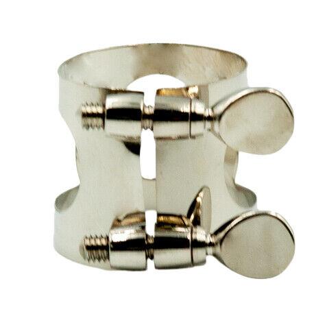 1 Stück Metall Ligatur Clip Saxophon-Mundstück Blattschraube Blasinstrumente