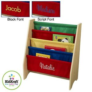 Image Is Loading Kidkraft Sling Bookshelf In 3 Colours Can Be