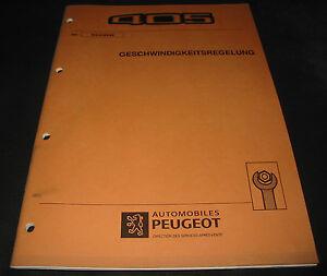 Werkstatthandbuch-Peugeot-405-Geschwindigkeitsregelung-Tempomat-Maerz-1993