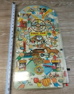 VINTAGE-1950-039-s-MARX-DELUXE-STATE-FAIR-BAGATELLE-PINBALL-GAME-24-034