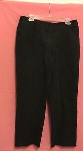Cambio-Black-Jeans-Size-12-Cotton-Spandex-No-Waistband-Mid-cut-Zip-Slip-hook-2
