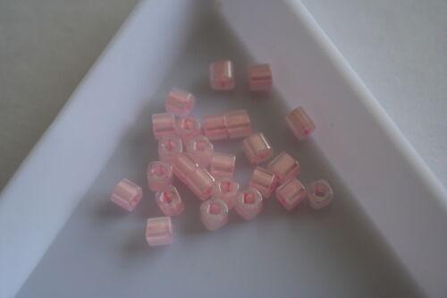 #7537 75 beads Ceylon Baby Pink Toho Square Beads