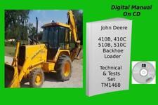 John Deere 410b 410c 510b 510c Backhoe Loader Manual Set Tm1468 Amp Tm1469