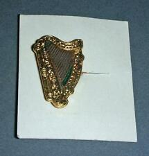 Old Metal / Enamel ? Button Hole Badge In The Form Of A Harp - Boxed -Miller Ltd