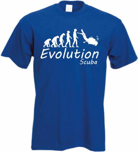 Diving T-shirtEvolution of Diving t shirtScuba Diver Tee