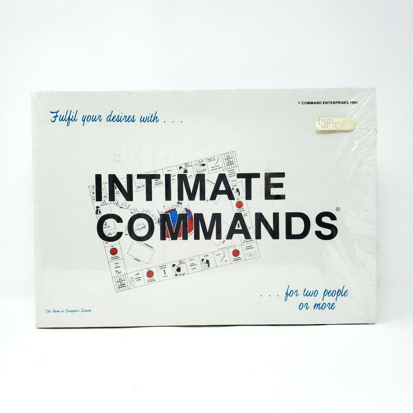 Intimate Commands Adult Board Game RARE Vintage 1985 SEALED