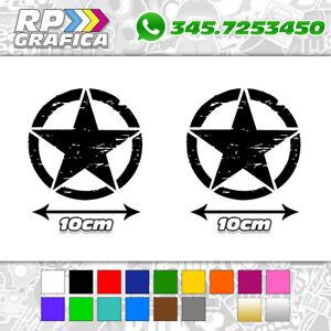 2-ADESIVI-10cm-STELLA-MILITARE-stickers-AUTO-US-ARMY-JEEP-FUORISTRADA-4X4