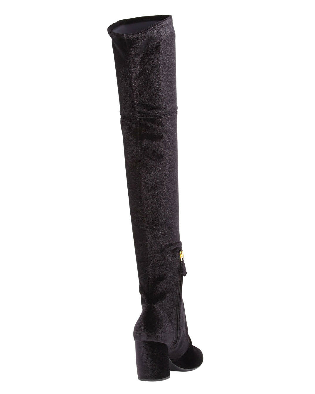 PRADA BLACK VELVET STRETCH VELLUTO OVER THE KNEE KNEE KNEE BOOTS 39 EU 9 US 285bcd