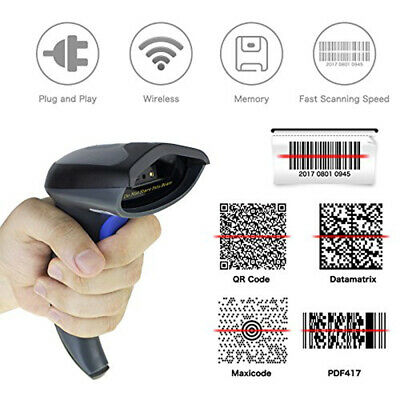 Bluetooth QR 1D 2D Barcode Scanner Handheld USB Wireless bar Codes POS  Android | eBay