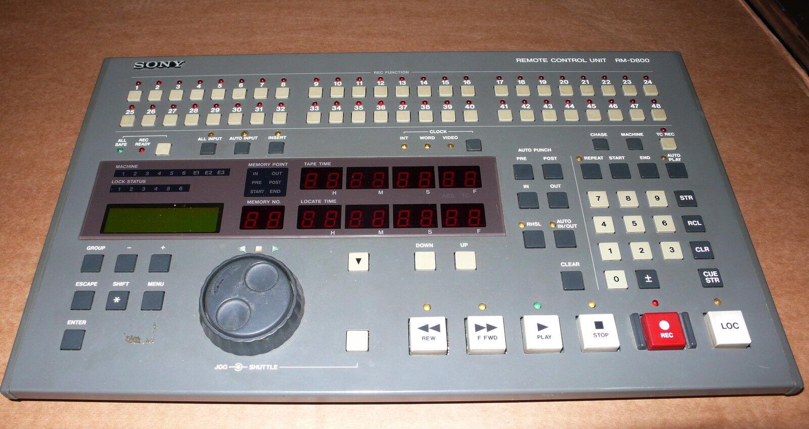 SONY RM-D800 REMOTE CONTROL UNIT FOR PCM 800