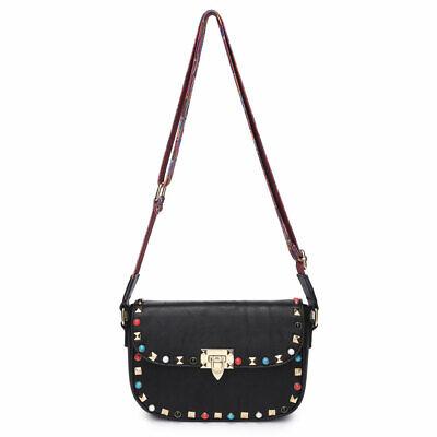 Women Ladies Studded Cross Body Side Messenger Shoulder Bag Handbag Purse Aztec