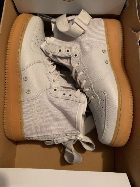 new product 0c470 093a6 Nike SF Air Force 1 Mid Womens Aa3966-005 Vast Grey Leather Nylon Shoes  Size 8.5