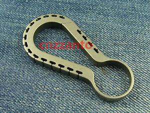 Limited-Edition-EDC-Titanium-Key-ring-holder-snap-hook-Carabiner-KC082