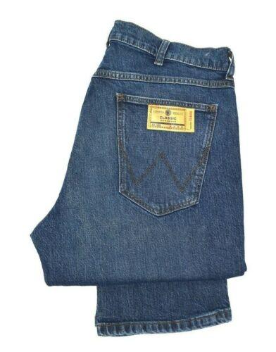 Mens Wrangler Greensboro straight stretch Fit jeans /'Dark Bower/' SECONDS WA171