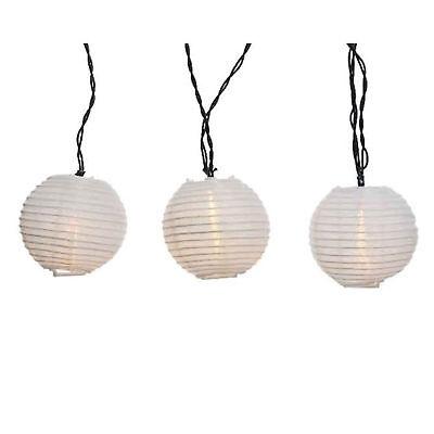 LED Lichterkette 20 LED weisse Laternen Lampions 20 warme LED Gartenbeleuchtung