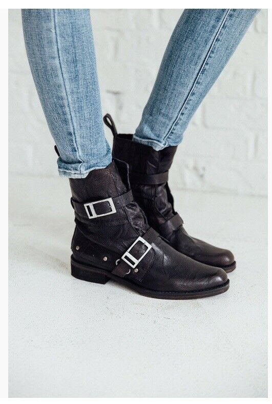 Free People Outsider Moto Boot 8m
