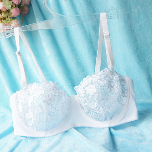 Floral Sheer Lace Embroidery Bra Bralette Lingerie TOP UNPADDED MESH LINED