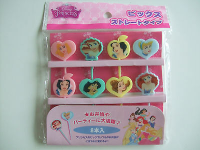 Disney Princess Food Picks Japanese Bento Accessories/8pcs