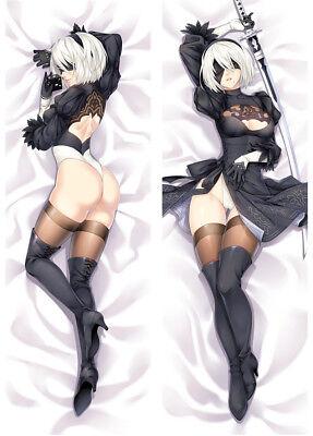 """59/"""" Anime Dakimakura Hyperdimension Neptunia Histoire Body Pillow Case cover HW2"""