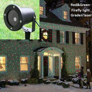 Waterproof Outdoor Christmas Lights Elf Laser Projector,Red Green Moving lights