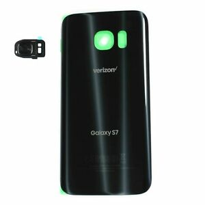 Samsung-Galaxy-S7-G930V-Verizon-Back-Door-Glass-With-Rear-Camera-Cover-Black