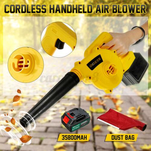 220V Cordless Handheld Electric Air Blower Vacuum Dust Leaf Cleaner Sweeper