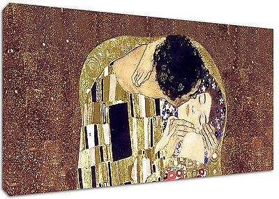 Quadro Moderno Cm 100x50 Stampa su Tela Arredamento Arte Arredo Casa Bacio