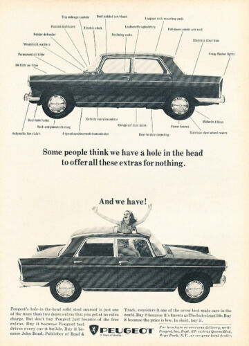 1966 Peugeot 404 we have Classic Advertisement Ad A1B