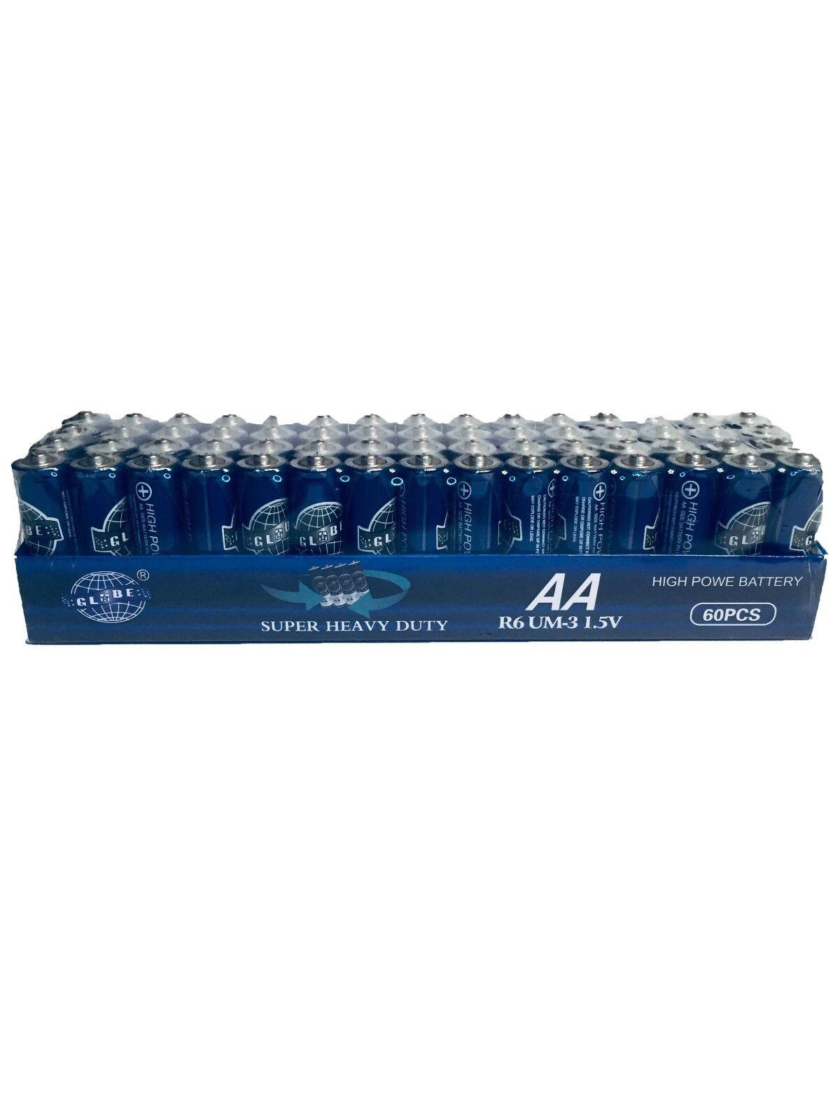 Lot of 120 AA Batteries EXTRA Heavy Duty 1.5 V. 2 Pack 60 Pcs