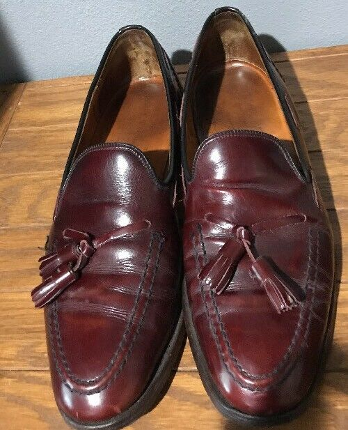 Vintage The British Isles Collection D Burgundy OXFORDS Sz 8.5 D Collection Made In England 47a9d6