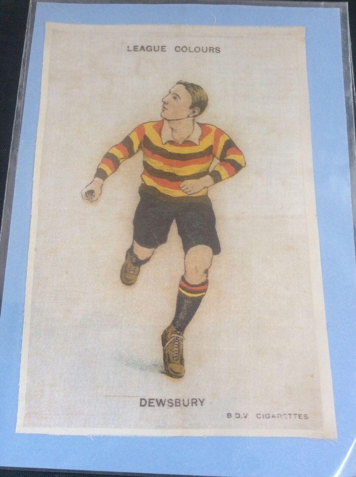 DEWSBURY BDV Godfrey Phillips BDV DEWSBURY Silk Cigarette Card Rugby League Colours c1920 0b4289