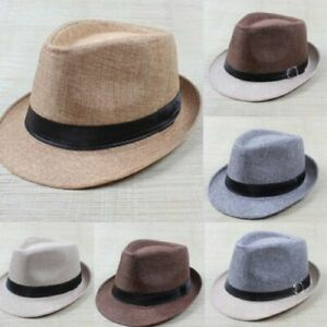 f9c63f95775 Hippie Unisex Men Black Jazz Wool Trilby Bowler Fedora Panama Hat ...