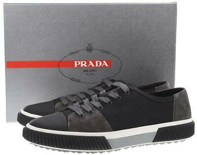 Details about PRADA White Tonal Leather Low Top Men's Designer Sneakers Shoes 10.5 US 9.5 UK