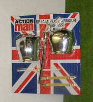 Vintage Action Man 40th Carded Breast Plate Armour (cuirass) For Lifeguard Etc