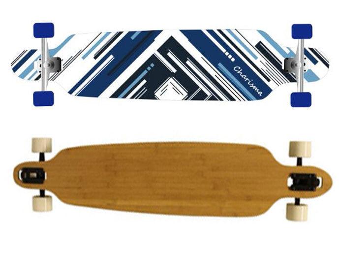 Maxofit ® Design Longboard  Charisme bleu  106 cm, ABEC 11 Roulement à billes