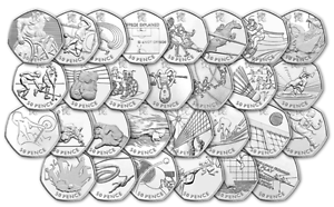 London-2012-All-Olympic-50p-Coins-incl-Triathlon-Football-Judo-Wrestling-Hockey