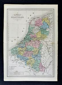 image is loading 1858 delamarche map belgium amp holland netherlands luxembourg