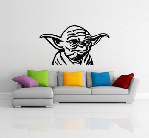 Yoda Star Wars Autocollant mural Pochoir Silhouette Home Decor Art Tattoo SQ127