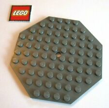 Lego 10x10 Hexagon Dark Grey Hole In Center Lot Of 2