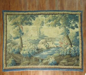 Linens & Textiles (pre-1930) Brilliant Antique French Tapestry 18th Century Size 10'9''x8'1'' Making Things Convenient For Customers