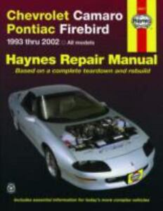 haynes repair manual chevrolet camaro pontiac firebird 1993 thru rh ebay com 2017 Chevrolet Camaro Manual Transmission Chevrolet Camaro Concept