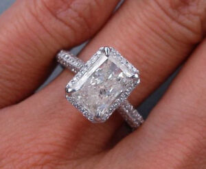 engagement radiant ctw k diamond cut ring