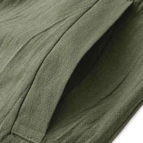 Women Plus Size Loose Linen Cotton Jumpsuit Dungarees Playsuit Wide Leg Trousers